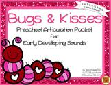 Bugs and Kisses {preschool articulation activities}