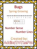 Number Line Number Sense - Bug and Spring Growing Worksheets