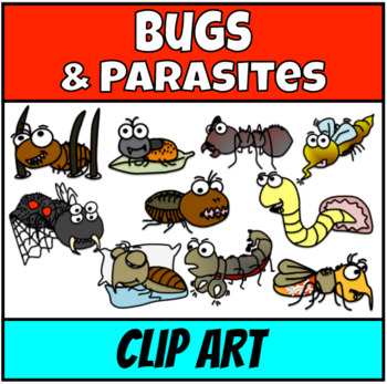 Bugs Predators and Parasites  Clip Art
