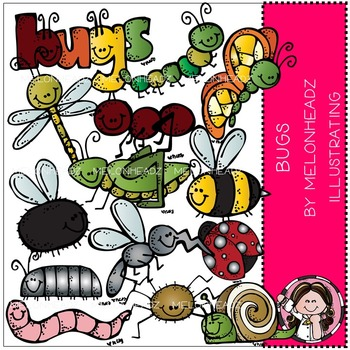 Melonheadz: Bugs clip art - COMBO PACK