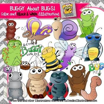 Bugs in Spring clip art