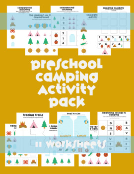 Camping Preschool Summer Packet