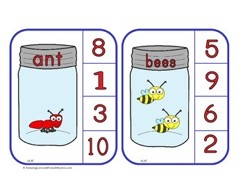 Bugs in a Jar Counting Cards