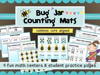 bugs in a jar counting and matching math games 4 easy prep math center