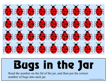 Bugs in the Jar - Counting 0-10 Mats - Learning Center Kit
