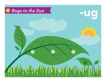 Bugs in the Sun Short U Word Families Phonics Game