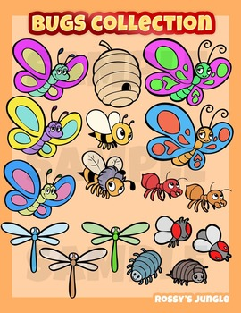 Bugs, insects and other critters clip art set