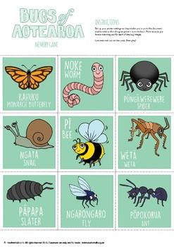 Bugs of Aotearoa Memory Game