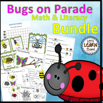 Bugs and Insects,Math and Literacy Activities Bundle, Bugs