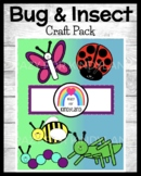 Bugs / Insects Craft Pack: Butterfly, Ladybug, Caterpillar, Grasshopper, Bee