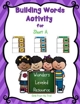 Building Short A Words Wonders Unit 1 Week 1