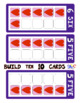 Build 10 Hearts Large Math Game Cards