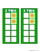 Build 10 Math Game Cards Handheld Size with Flowers