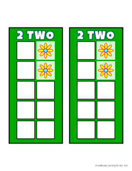 Build 10 Flowers Math Game Cards