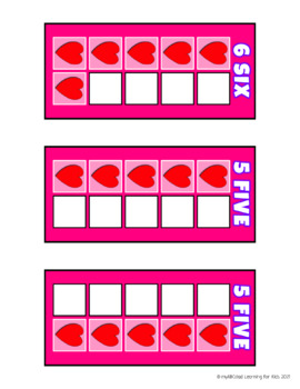 Build 10 Hearts Math Game Cards