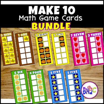 Build 10 Math Game Cards BUNDLE
