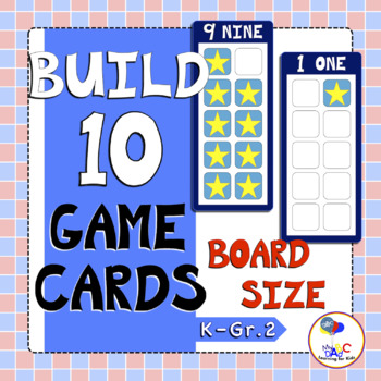 Build 10 Stars Large Math Game Cards
