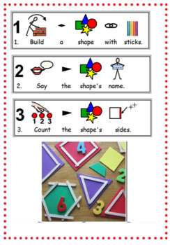 Build 2D Shapes with Lolly Sticks