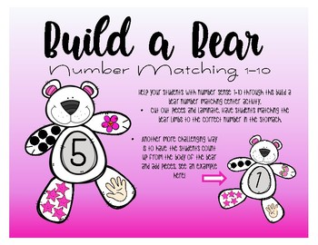 Build A Bear - Number Matching