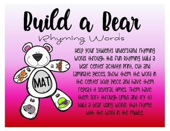 Build A Bear - Rhyming Words
