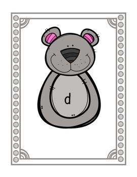 Build-A-Bear for b,d,p recognition! {Freebie}