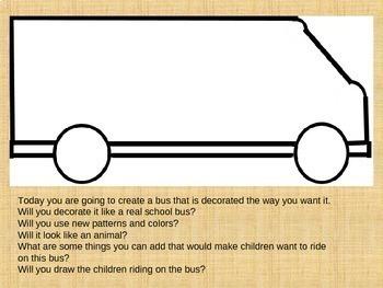 Art Sub Plan - School Bus Frenzy