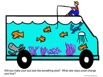 Art Lesson - Back to School - School Bus Frenzy