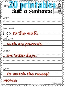 Build A [Better] Sentence Starter Pack