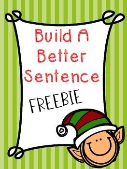 Build A Better Sentence Writing FREEBIE!