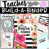 Teacher Binder {Editable Build-A-Binder} Back to School Pr