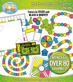 Build A Board Game Clipart Set 1 {Zip-A-Dee-Doo-Dah Designs}