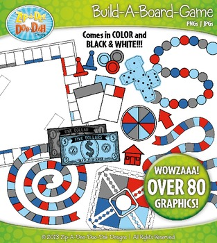 Build A Board Game Clipart Set 10 {Zip-A-Dee-Doo-Dah Designs}