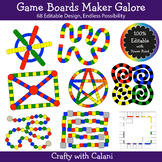 Build A Board Game Clipart Set - 100% Editable Board Game