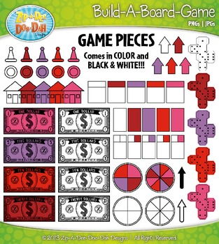 Build A Board Game Clipart Set 11 {Zip-A-Dee-Doo-Dah Designs}