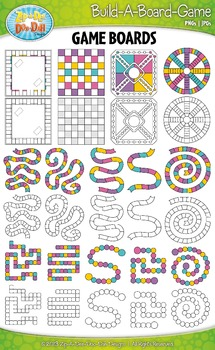 Build A Board Game Clipart Set 2 {Zip-A-Dee-Doo-Dah Designs}