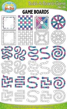 Build A Board Game Clipart Set 4 {Zip-A-Dee-Doo-Dah Designs}