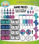 Build A Board Game Clipart Set 4 — Over 80 Colorful Graphics