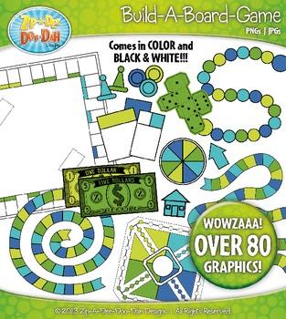 Build A Board Game Clipart Set 5 {Zip-A-Dee-Doo-Dah Designs}