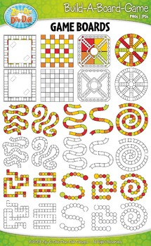 Build A Board Game Clipart Set 6 {Zip-A-Dee-Doo-Dah Designs}