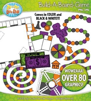 Build A Board Game Clipart Set 9 {Zip-A-Dee-Doo-Dah Designs}