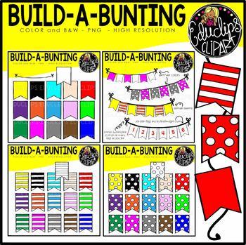 Build A Bunting Clip Art Bundle {Educlips Clipart}
