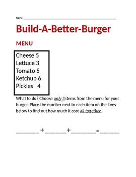 Build A Burger Math Lesson