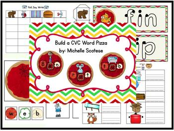 Build A CVC Word Pizza!