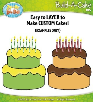 Build A Cake Clipart {Zip-A-Dee-Doo-Dah Designs}