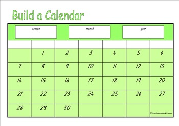 Build A Calendar Game