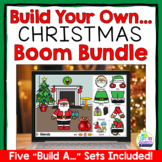 Christmas Speech Therapy Boom Cards Build A... Bundle