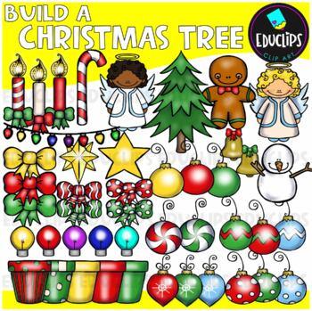 Build A Christmas Tree Clip Art Bundle {Educlips Clipart}