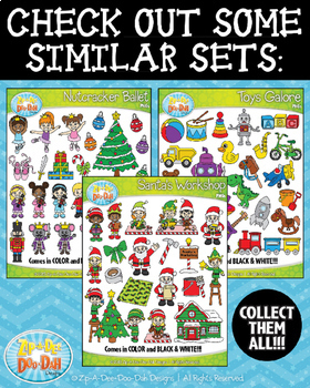 Build A Christmas Tree Clipart {Zip-A-Dee-Doo-Dah Designs}