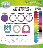 Build A Clock Clipart {Zip-A-Dee-Doo-Dah Designs}