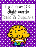 Build A Cupcake- Fry First 100 Words